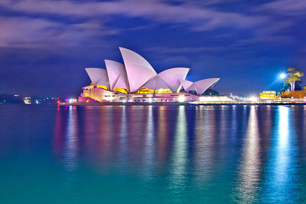 Colour Photograph - Sydney Opera House Pre Dawn by Az Jackson