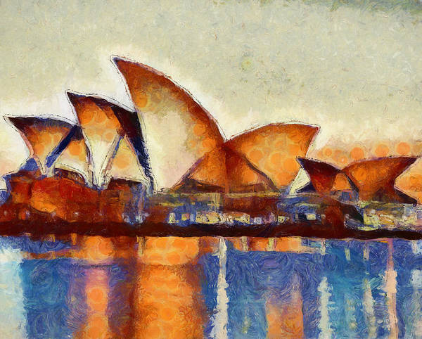 Wall Art - Painting - Sydney Opera House Reflections by Dan Sproul
