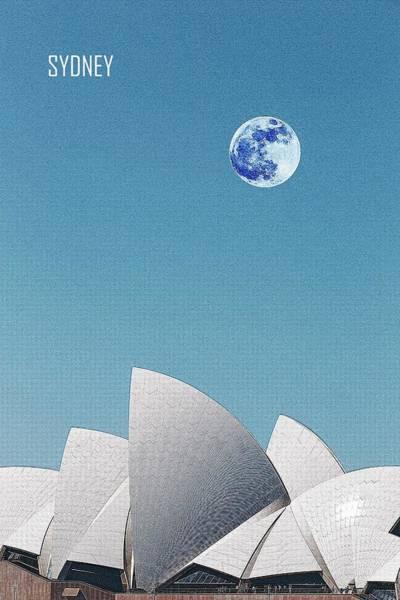 Painting - Sydney Opera House, Sydney, Australia Travel Poster by Adam Asar