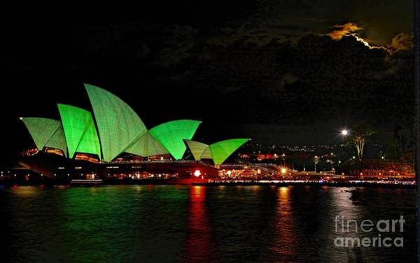 Photograph - Sydney Opera House Vivid Festival Australia by Diana Mary Sharpton