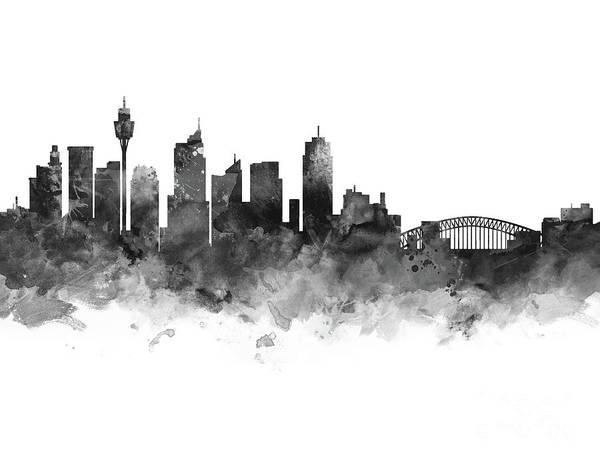 Wales Mixed Media - Sydney Skyline by Monn Print