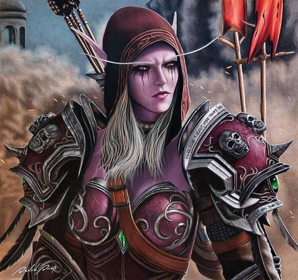 World Of Warcraft Wall Art - Drawing - Sylvanas Windrunner by David Dias