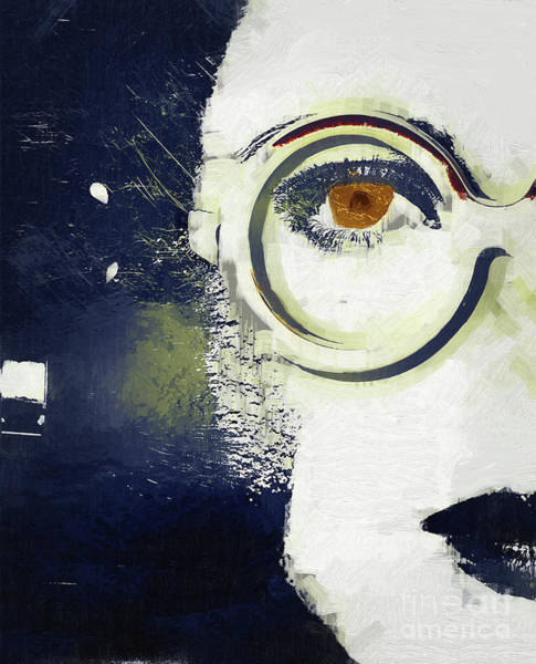 Sunglasses Painting - Sylvia by Mindy Sommers