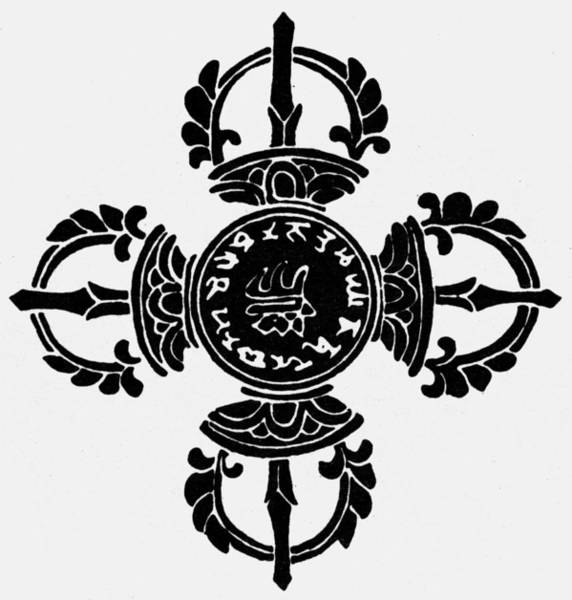 Photograph - Symbol: Double Vajra by Granger