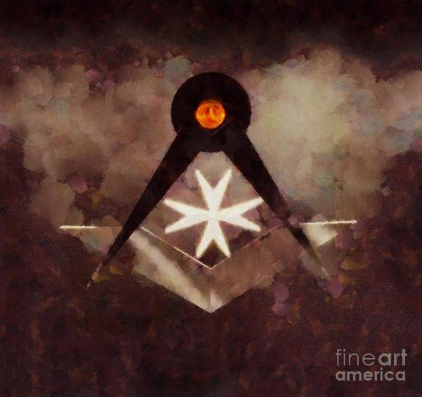 Wall Art - Painting - Symbol Of The Freemasons By Pierre Blanchard by Pierre Blanchard