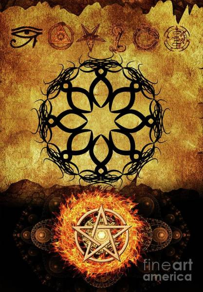 Wall Art - Digital Art - Symbols Of The Occult by Pierre Blanchard