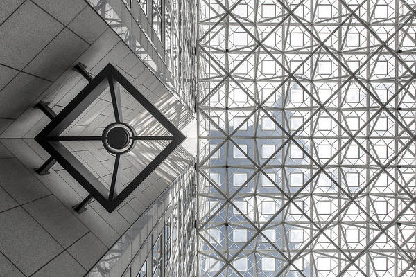 Glass Wall Art - Photograph - Symmetric Sky by Michel Guyot