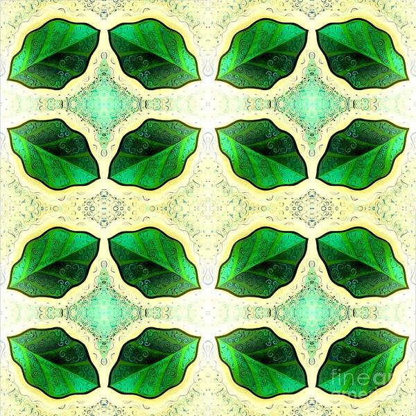 Painting - Symmetry In Green Leaves by Helena Tiainen
