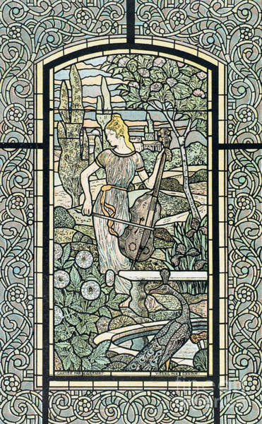Wall Art - Painting - Symphonie, By Eugene Grasset by Eugene Grasset