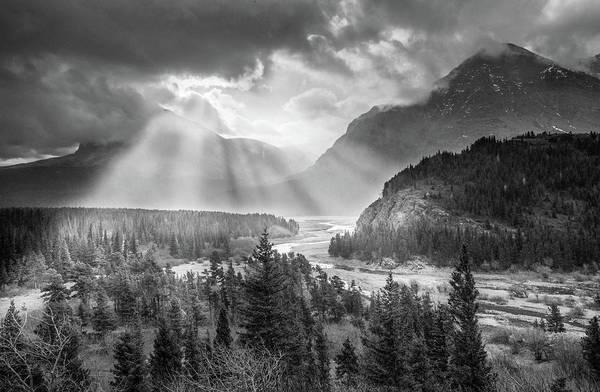 Photograph - Symphony Of Light // Many Glacier, Glacier National Park by Nicholas Parker