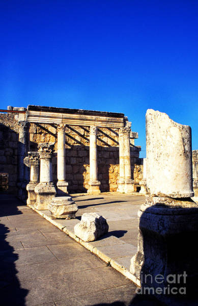 Jewish Homeland Photograph - Synagogue In Ancient Capernaum by Thomas R Fletcher