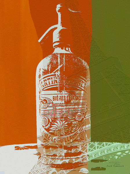 Bier Painting - Syphon Bottle Martin Chesneau Vert by Joost Hogervorst