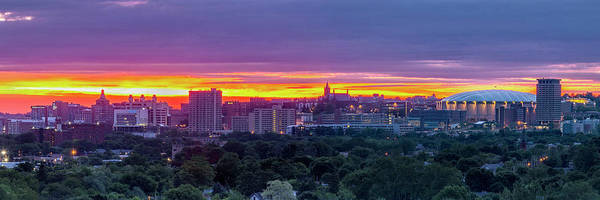 Onondaga Photograph - Syracuse Sunrise Panorama by Scott Reyes