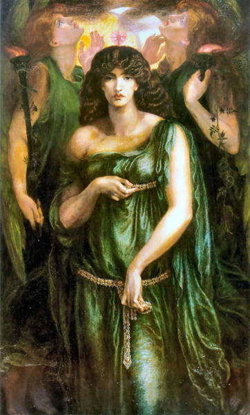 Painting - Syrian Astarte 1877 by Dante Gabriel Rossetti Joy of Life Old Masters Gallery