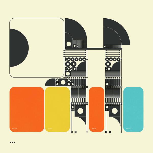 Geometry Digital Art - Systems 14 by Jazzberry Blue