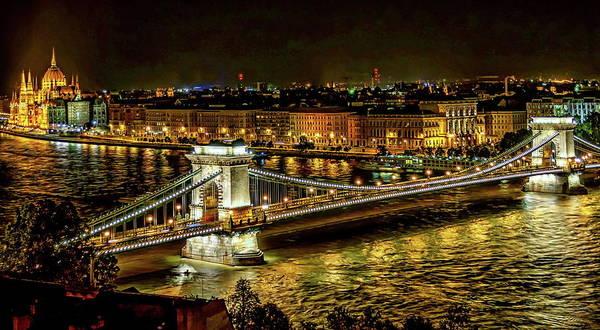 Photograph - Szechenyi Chain Bridge by Anthony Dezenzio