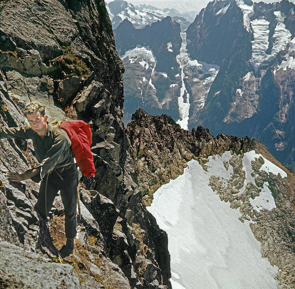 Photograph - T-04403 Walt Buck Sellers On First Ascent Of Mt. Torment by Ed Cooper Photography