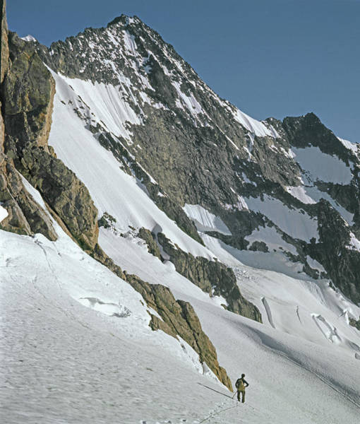 Photograph - T-104406-b Fred Beckey Below Forbidden Peak by Ed Cooper Photography