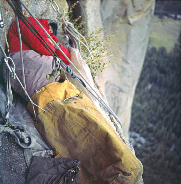 Photograph - T-306612-b Sleeping On Ledge El Capitan by Ed Cooper Photography
