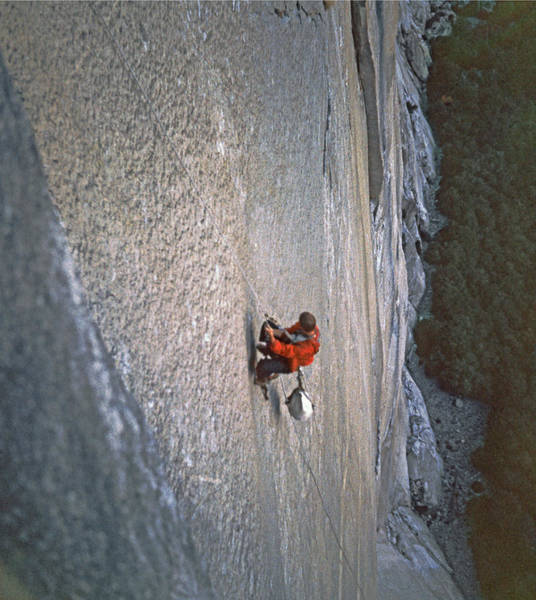 Photograph - T-406608 Climber Prussiking by Ed Cooper Photography