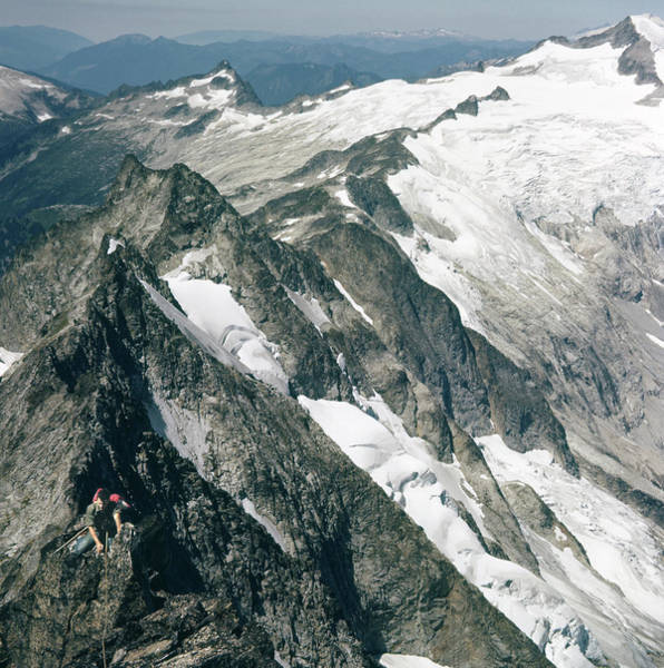 Photograph - T-504406-c Walt Sellers On Torment Forbidden Traverse by Ed Cooper Photography
