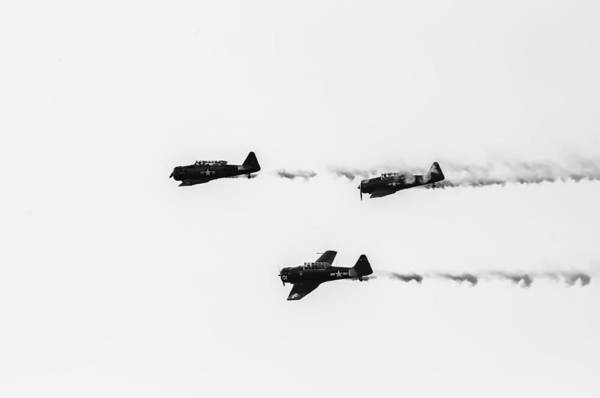 Photograph - T-6 Flyover 2 by Sherri Meyer
