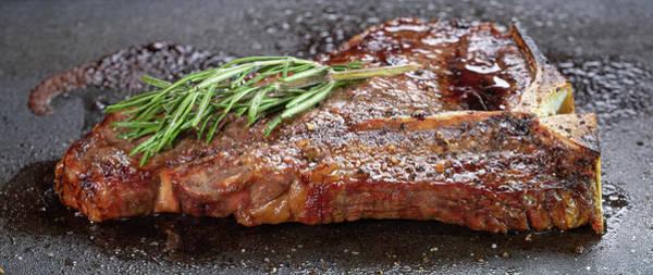 Wall Art - Photograph - T-bone Steak Pan Searing by Steve Gadomski