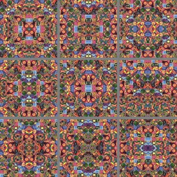 Painting - T J O D Mandala Series Puzzle 2 Variations 1-9 by Helena Tiainen