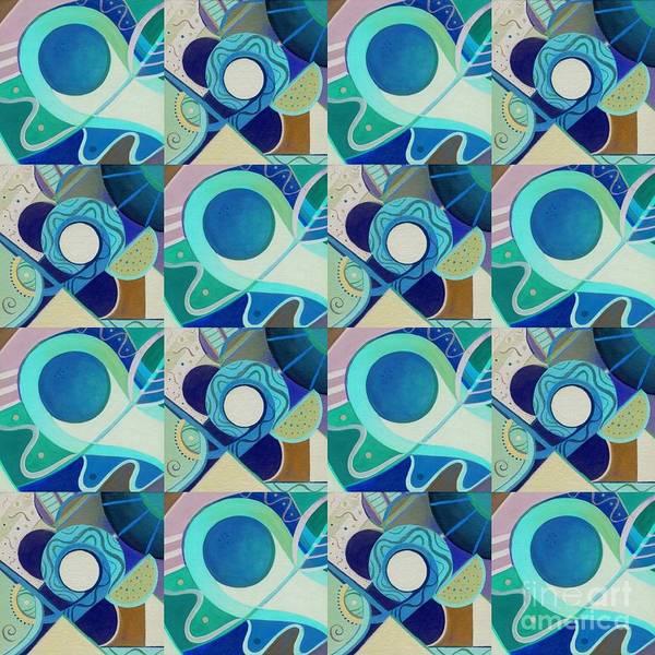 Digital Art - T J O D Tile Variation 1 Inverted by Helena Tiainen
