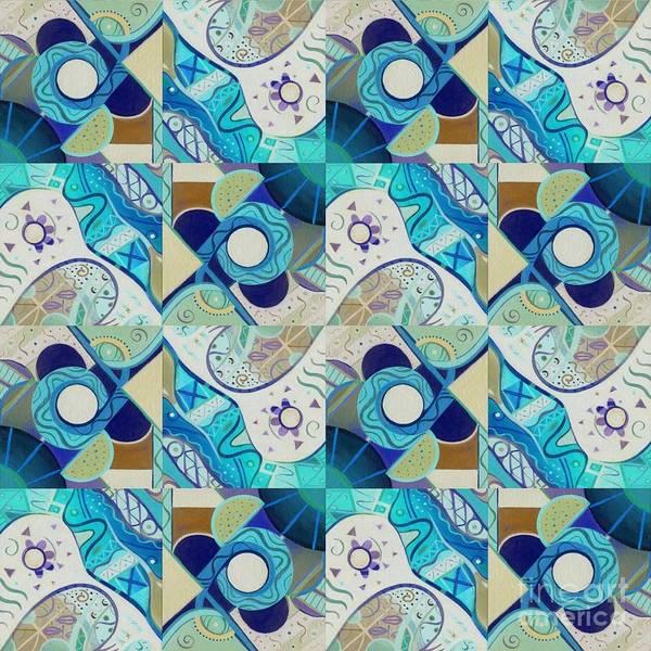 Digital Art - T J O D Tile Variation 2 Inverted by Helena Tiainen
