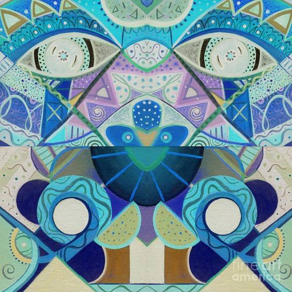 T J O D Tile Variation 3 Inverted Art Print