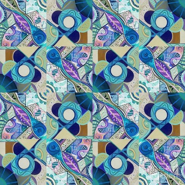 Digital Art - T J O D Tile Variation 4 Inverted by Helena Tiainen