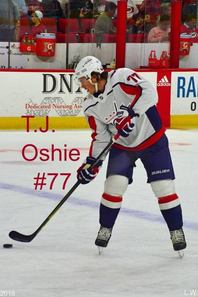 Photograph - T J Oshie #77 by Lisa Wooten