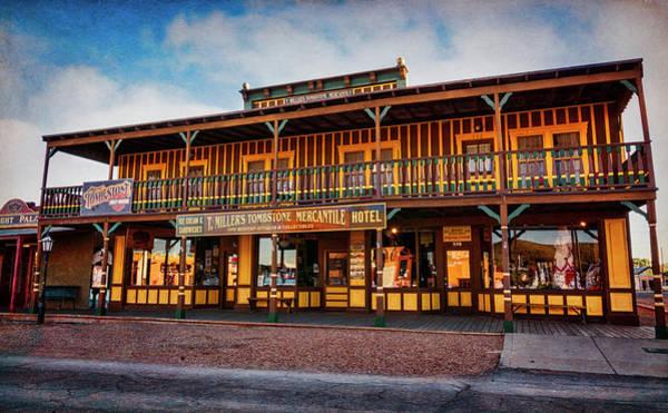 Tombstone Arizona Photograph - T. Miller's Tombstone Mercantile And Hotel  by Saija Lehtonen