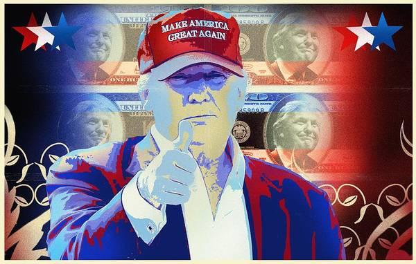 Democrat Mixed Media - T R U M P Donald Trump by Mr Freedom