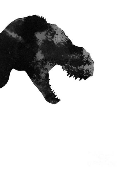 Kid Wall Art - Painting - T Rex Abstract Poster by Joanna Szmerdt