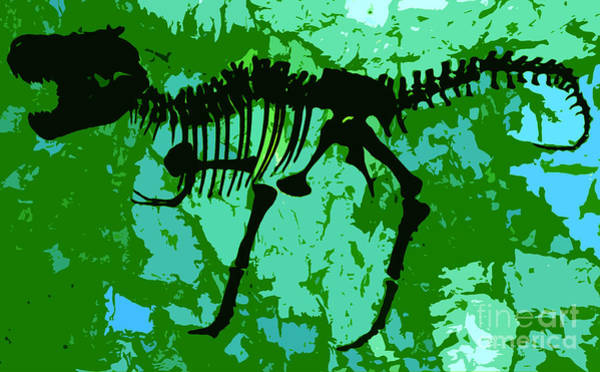 Archeology Digital Art - T. Rex by David Lee Thompson