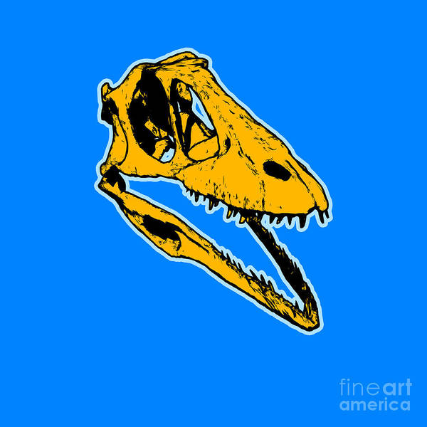 Wall Art - Painting - T-rex Graphic by Pixel  Chimp