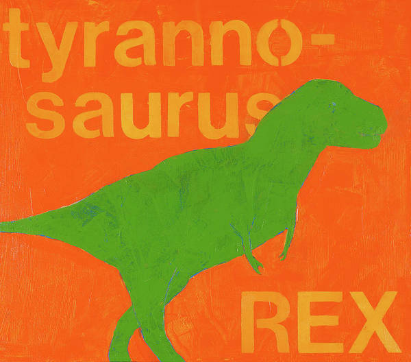 Room Painting - T Rex by Laurie Breen