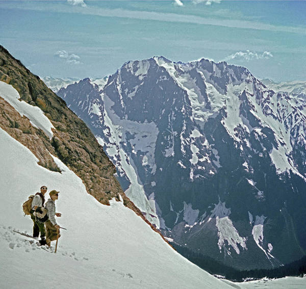 Photograph - T04402 Beckey And Hieb After Forbidden Peak 1st Ascent by Ed Cooper Photography