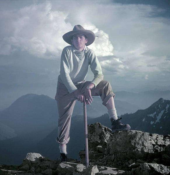 Photograph - T104800 Ed Cooper On First Climb Pinnacle Peak Wa 1953 by Ed Cooper Photography