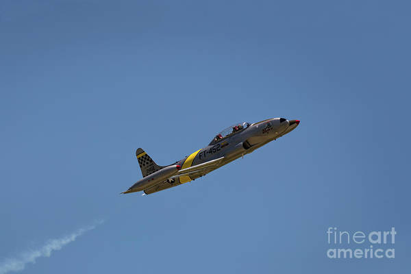 Photograph - T33 In Flight by Andrea Silies