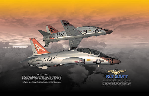 T45 Kiss-off Wt Wings Art Print