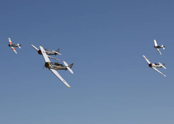Photograph - T6 Frenzy Over The Reno Desert by John King