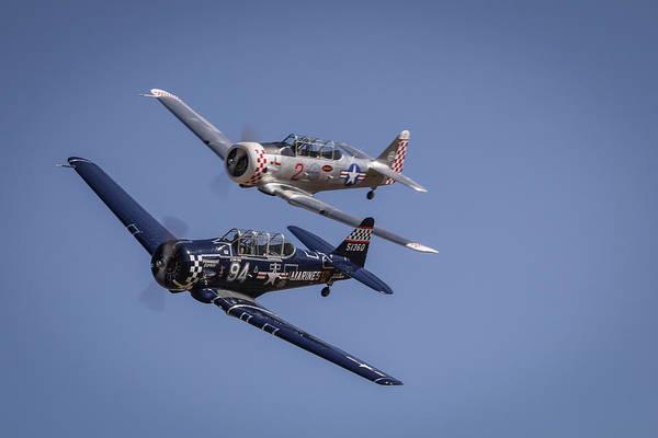 Photograph - T6s At Reno Air Races by John King