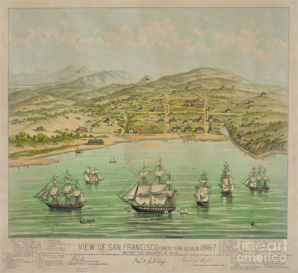 Photograph - San Francisco In 1864 by Dale Powell