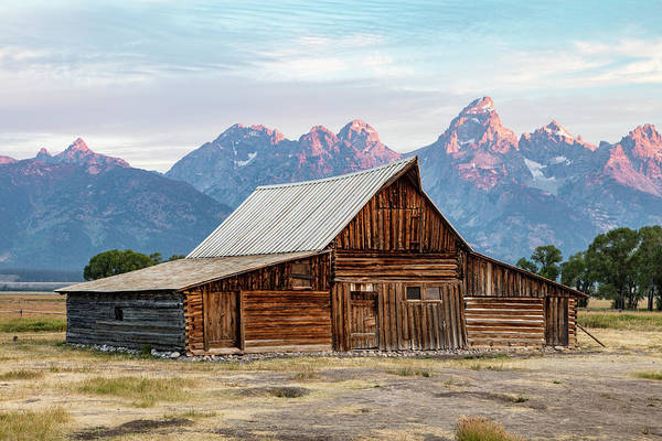 Photograph - T.a. Moulton Barn Sunrise  by John McGraw