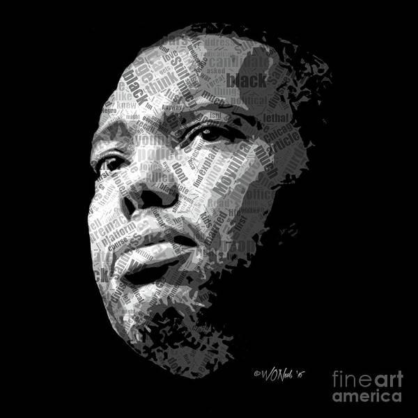 Journalist Digital Art - Ta-nehisi Coates by Walter Neal