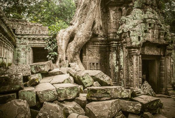 Wall Art - Digital Art - Ta Prohm Temple Siem Reap by Chas Hauxby