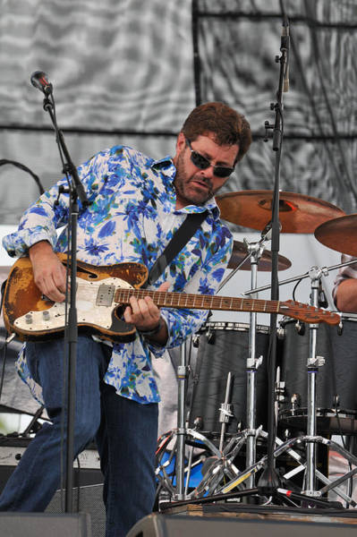 Photograph - Tab Benoit Plays His 1972 Fender Telecaster Thinline Guitar by Ginger Wakem